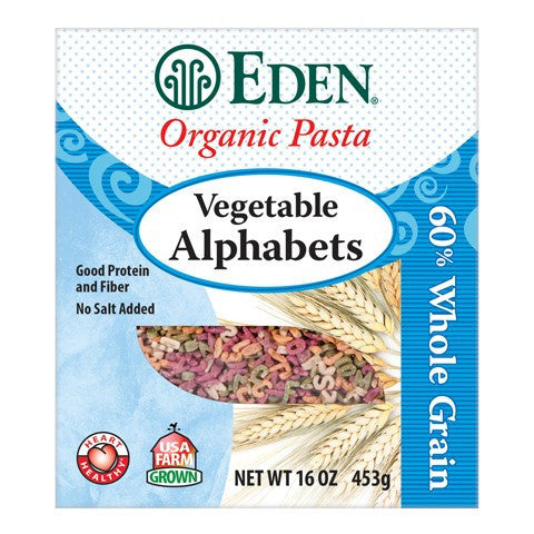 Eden Organic Vegetable Alphabets Pasta - Queensborough Community Pharmacy