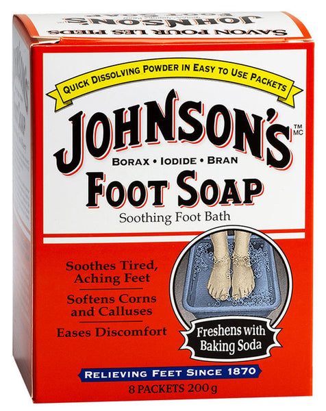 JOHNSON FOOT SOAP 200G - Queensborough Community Pharmacy