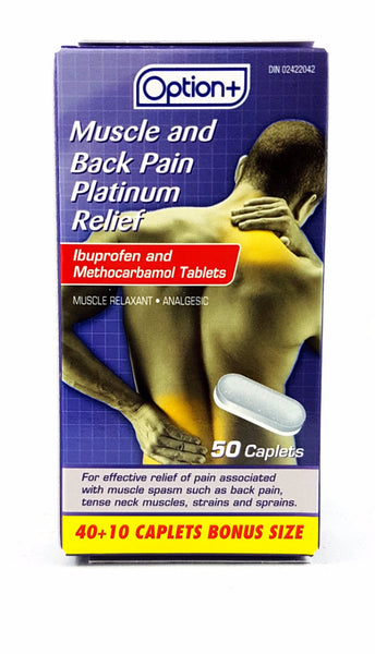 OPTION+MUSCLE AND BACK PLATINUM PAIN RELIEF 50'S - Queensborough Community Pharmacy - 1