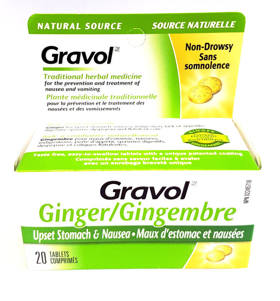 GRAVOL NAT SOURCE ANTINAUSEANT 20'S - Queensborough Community Pharmacy - 1