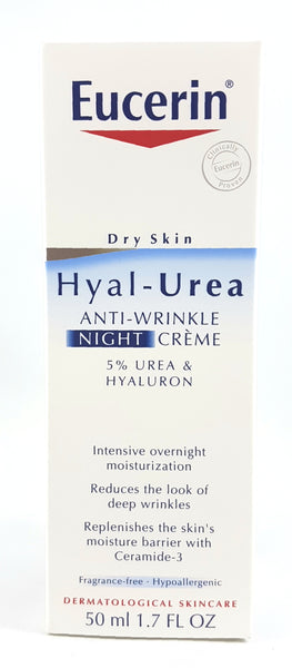 EUCERIN HYAL UREA ANTI-WRINKLE NIGHT CREAM 50ML
