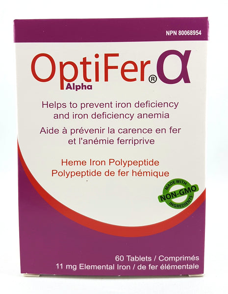 OPTIFER ALPHA HEME IRON 60'S