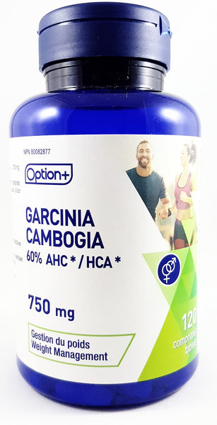 OPTION + GARCINIA CAMBOGIA 750MG 60% AHC* / HCA* 120 TABLETS