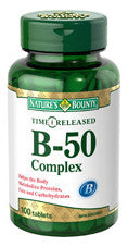 NATURES BOUNTY VITAMIN B-50 COMPLEX TIME RELEASE 100'S - Queensborough Community Pharmacy