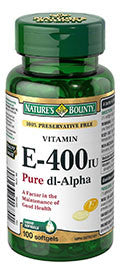 NATURE'S BOUNTY 100% PRESERVAT FREEVIT E 400IU SOFTGELS 100'S - Queensborough Community Pharmacy
