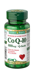 NATURE'S BOUNTY Q-SORB CO Q10 400MG30'S - Queensborough Community Pharmacy