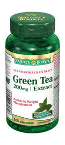 NATURE'S BOUNTY GREEN TEA EXTRACT CAPS 100'S - Queensborough Community Pharmacy