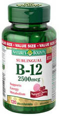 NATURE'S BOUNT B12 2500MG VALUE 120'S - Queensborough Community Pharmacy