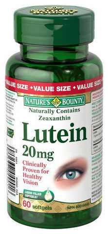NATURE'S BOUNTY LUTEIN 20MG VAL 60'S - Queensborough Community Pharmacy