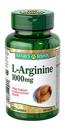 NATURE'S BOUNTY L-ARGININE 1000MG 50'S - Queensborough Community Pharmacy
