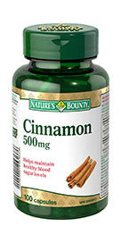 NATURE'S BOUNTY CINNAMON CAPS 100'S - Queensborough Community Pharmacy