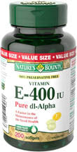 NATURES BOUNTY E 400IU SYN VALUE 200'S - Queensborough Community Pharmacy