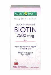 NATURES BOUNTY BIOTIN 2500MCG 100'S - Queensborough Community Pharmacy