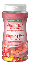 NATURES BOUNTY B12 GUMMIES 75'S - Queensborough Community Pharmacy
