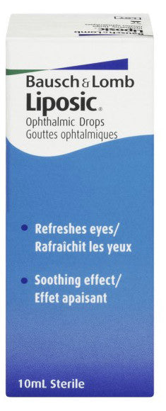 B & L LIPOSIC OPHTHALMIC DROPS 10ML - Queensborough Community Pharmacy
