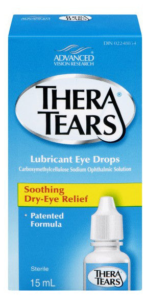 THERA TEARS LUBRICANT EYE DROPS 15ML - Queensborough Community Pharmacy