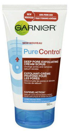 GARNIER PURE CONTROL SCRUB TUBE 150ML - Queensborough Community Pharmacy