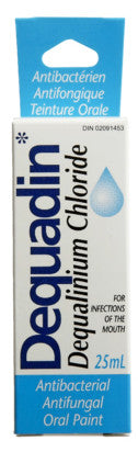 DEQUADIN ANTIBAC ORAL PAINT 25ML - Queensborough Community Pharmacy