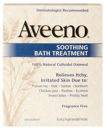 AVEENO SOOTHING BATH TRMT 8/42G - Queensborough Community Pharmacy