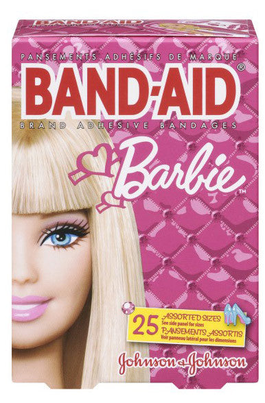 J&J BAND-AID BARBIE 25'S - Queensborough Community Pharmacy