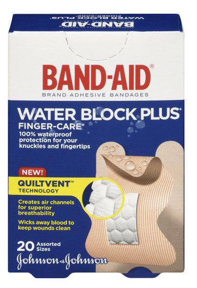 J&J BAND-AID WATERBLOCK F/CARE 20'S - Queensborough Community Pharmacy