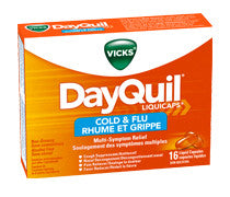 VICKS DAYQUIL COLD & FLU CAPS 16'S - Queensborough Community Pharmacy