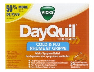 VICKS DAYQUIL COLD & FLU 24'S - Queensborough Community Pharmacy