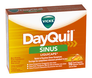 VICKS DAYQUIL SINUS CAP 16'S - Queensborough Community Pharmacy
