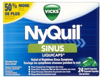 VICKS NYQUIL SINUS CAP 24'S - Queensborough Community Pharmacy