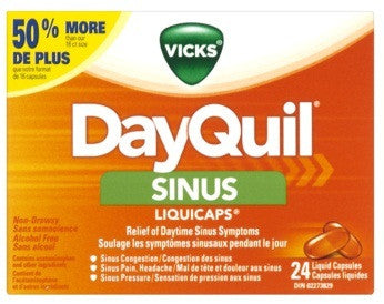 VICKS DAYQUIL SINUS CAP 24'S - Queensborough Community Pharmacy