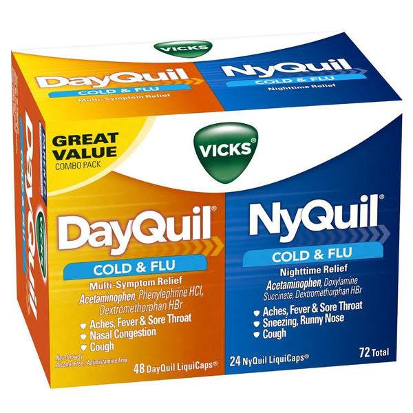 DAYQUIL NYQUIL COLDANDFLU CMBO 72'S - Queensborough Community Pharmacy