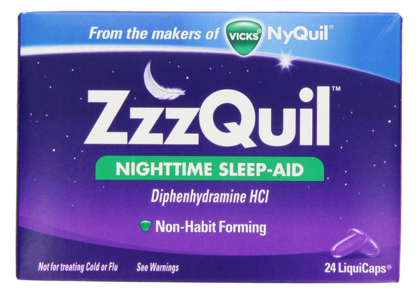 ZZZQUIL NIGHTTIME SLEEP-AID LIQUICAPS 24'S - Queensborough Community Pharmacy
