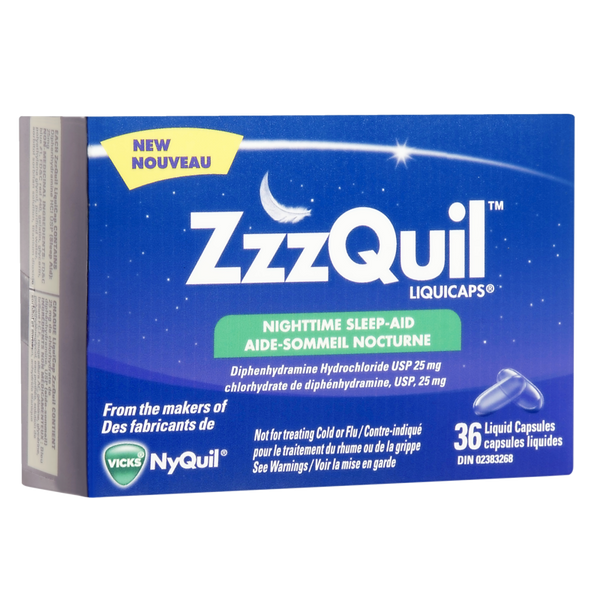 ZZZQUIL NIGHTTIME SLEEP-AID LIQUICAPS 36'S - Queensborough Community Pharmacy