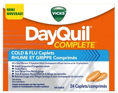 DAYQUIL COMPLETE COLD & FLU CAPS 24'S - Queensborough Community Pharmacy