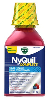 nyquil complete cold flu berry 354ml
