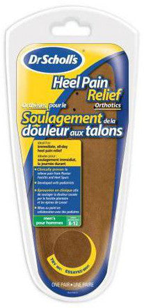 SCHOLL HEEL PAIN RELIEF MEN 1PR - Queensborough Community Pharmacy