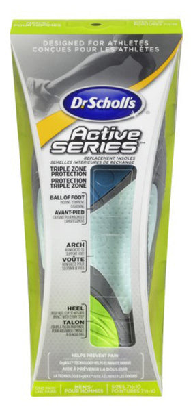 SCHOLL ACTIVE SERIES INSOLE 7 1/2-10 - Queensborough Community Pharmacy