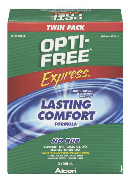 OPTI-FREE EXPRESS TWIN PACK 2X355ML - Queensborough Community Pharmacy