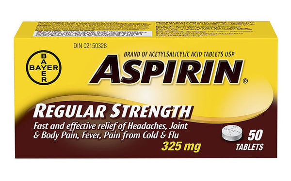 ASPIRIN TABS 50'S - Queensborough Community Pharmacy