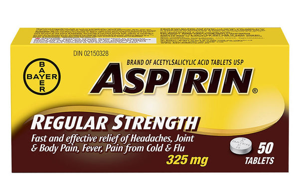 ASPIRIN CPLT 325MG 50'S - Queensborough Community Pharmacy