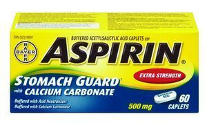 ASPIRIN PLUS STOM GUARD X-STR 60'S - Queensborough Community Pharmacy