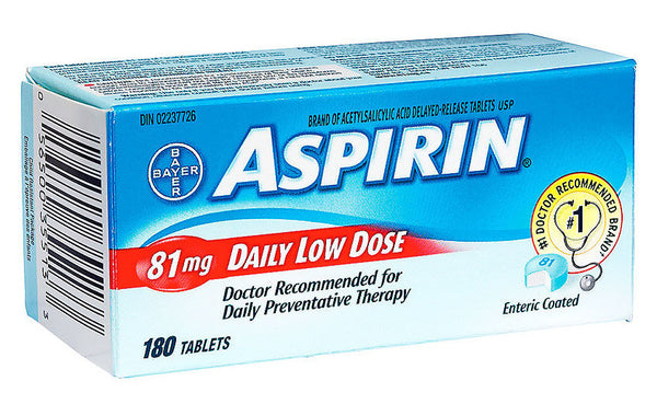ASPIRIN COATED LOW DOSE 81MG 180'S - Queensborough Community Pharmacy