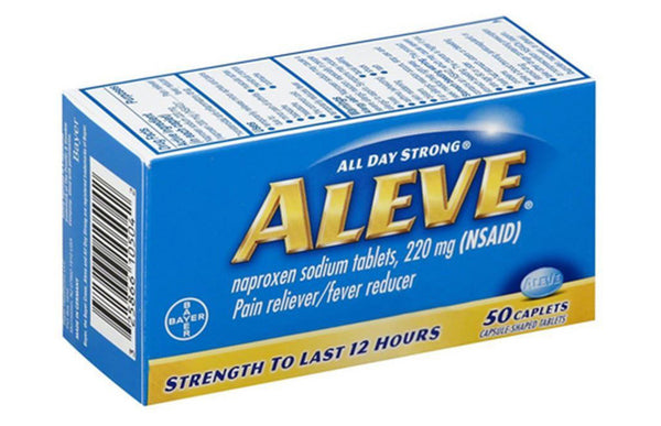 ALEVE 220MG CAPLET 50'S - Queensborough Community Pharmacy