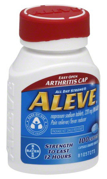 ALEVE 220MG CAPLETS 100'S - Queensborough Community Pharmacy