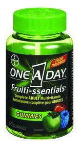 ONE A DAY FRUITI-SSENTIALS 60'S - Queensborough Community Pharmacy