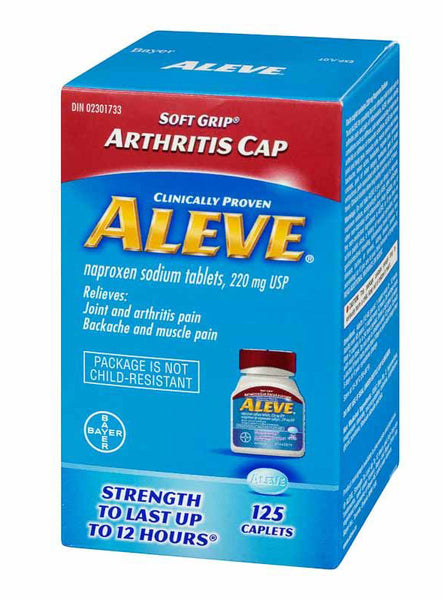 ALEVE 220MG CAPLET 125'S - Queensborough Community Pharmacy