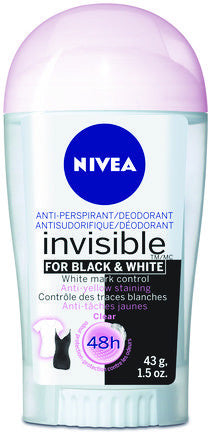 NIVEA A/P INVISIBLE BLACK&WHITE STICK 43G - Queensborough Community Pharmacy
