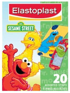 ELASTOPLAST SESAME STREET 20'S - Queensborough Community Pharmacy