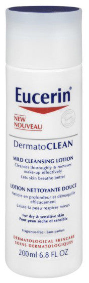 EUCERIN DERMATOCLEAN MILD CLEANSINGLOTION 200ML - Queensborough Community Pharmacy
