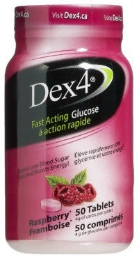 DEX-4 GLUCOSE TABS BOTTLE RSPBR 50'S - Queensborough Community Pharmacy